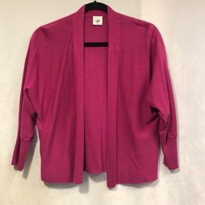 Cabi hot pink open front cardigan.  sm